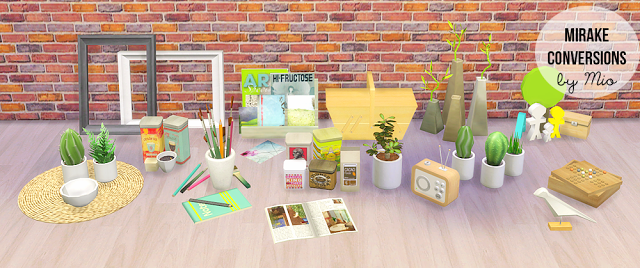 My Sims 4 Blog Mirake Clutter Conversions By Mio
