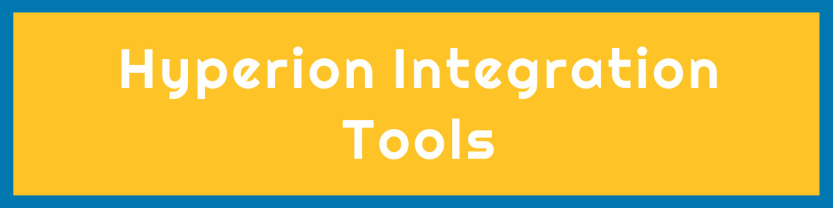 Hyperion  Integration Tools