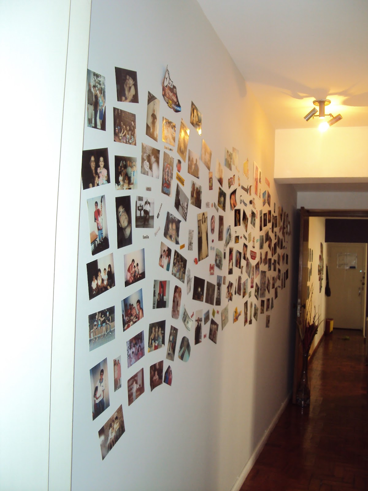 Amo Decora O 07 26 12 ~ Mural De Fotos Na Parede Do Quarto