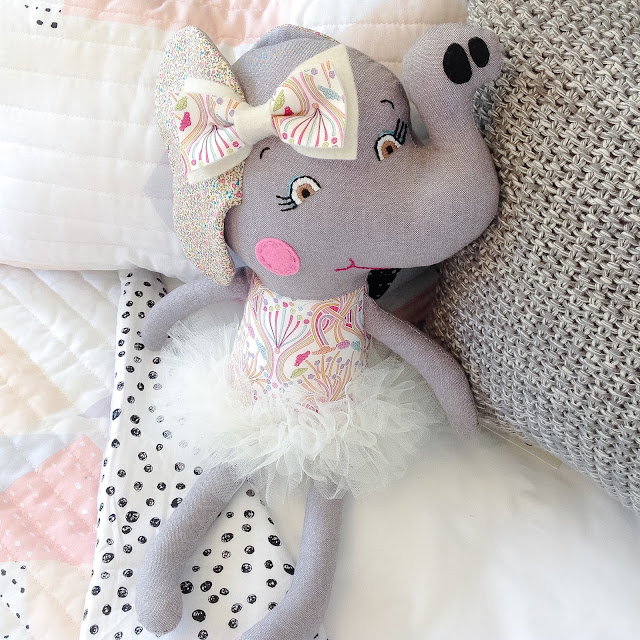 Liberty Elephant Doll by Rhapsody and Thread