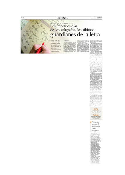 Artículo de El Mercurio