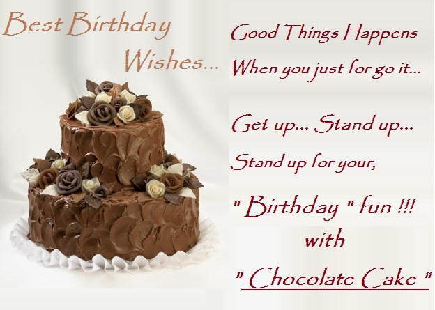 Photos Of Birthday Cake And Wishes : Chocolate Cake : Happy Birthday Cards, Birthday Images ...