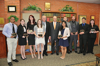 SHSU student scholarship recipients from 2014.