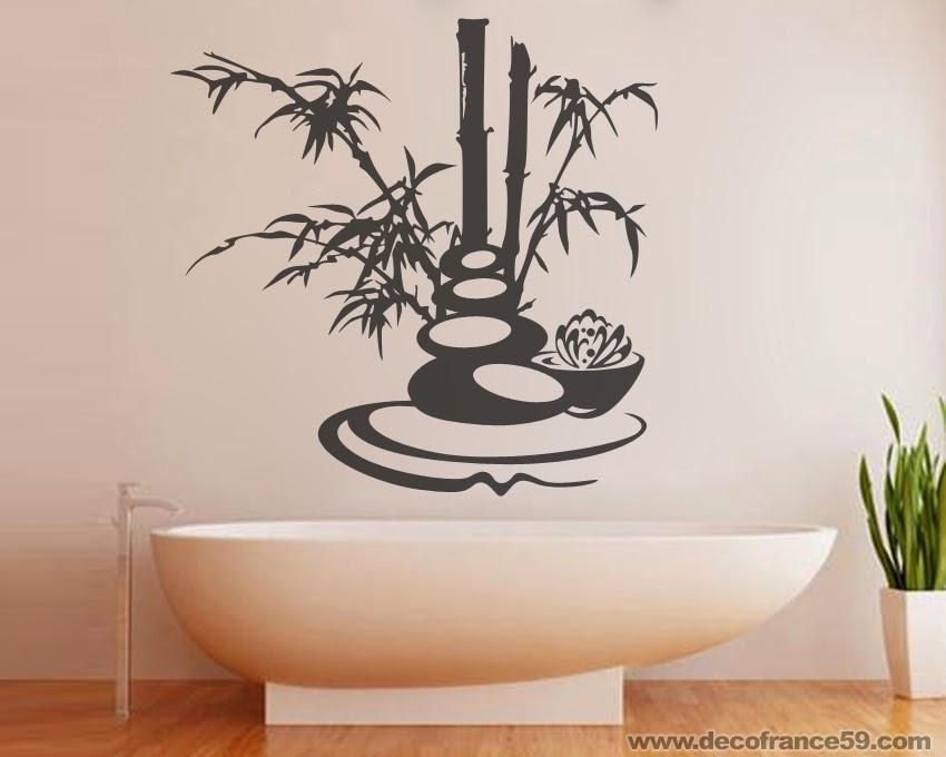Stickers muraux salle de bain zen matelas 2017 - Stickers muraux salle de bain ...