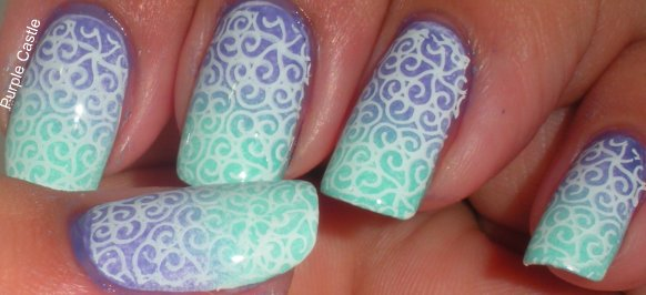 Purple Castle: Stamping & Freehand Combo