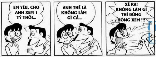 truyen Doremon che khong nhn duoc cuoi