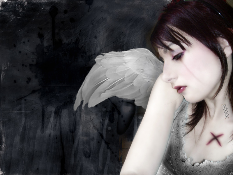 Get Free Wallpapers: Weeping-goth-girl-sad