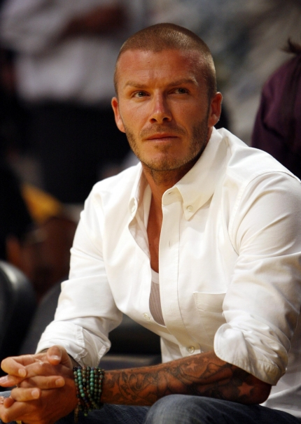 David Beckham in dress shirt