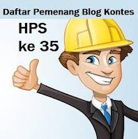 Daftar Pemenang Blog Kontes HPS