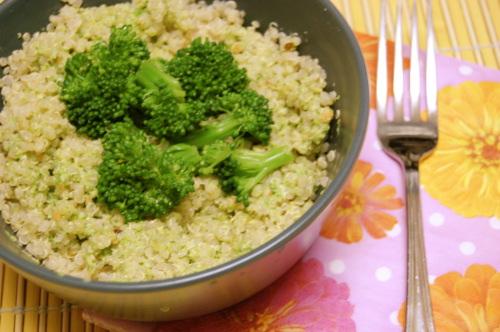 much to my delight...: Double Broccoli Quinoa