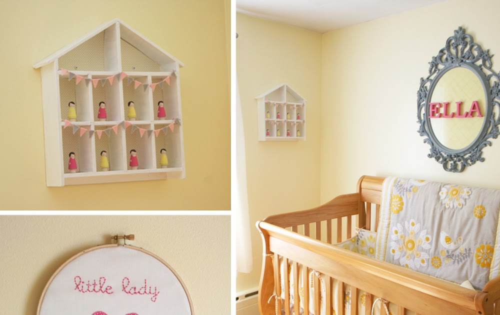 Pinkand Gray Baby Room