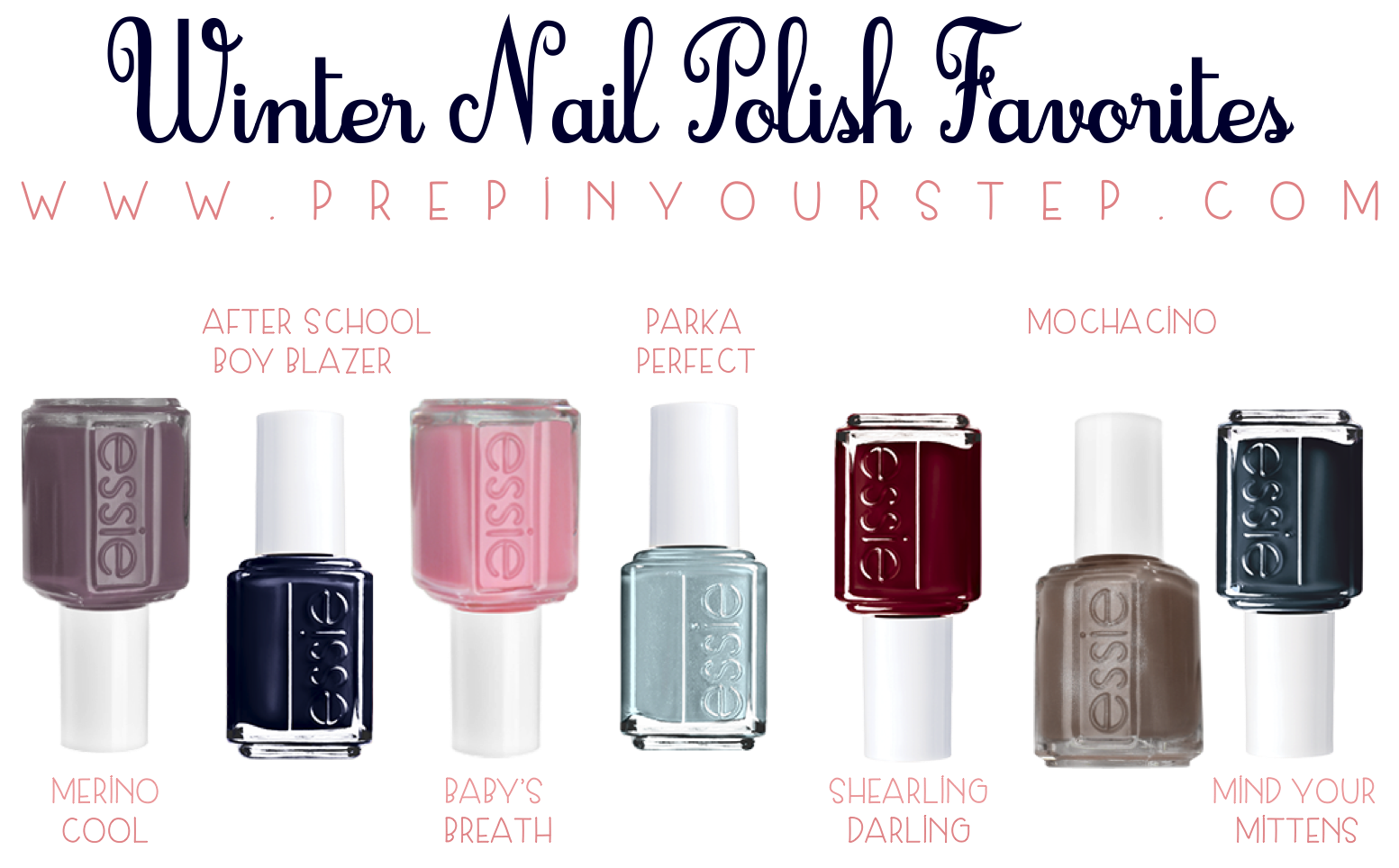 prep in your step: favorite nail polishes this winter