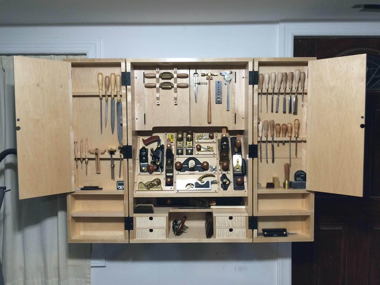 garage hand tool storage ideas - David Barron Furniture Great Wall Mounted Tool Cabinet