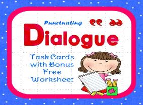 https://www.teacherspayteachers.com/Product/Dialogue-Task-Cards-Plus-Free-Bonus-Worksheet-469809