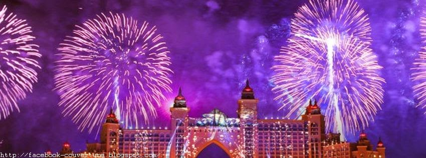 Image de couverture facebook d'un feu d'artifice