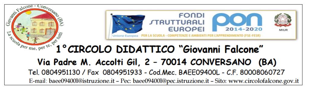 """I Circolo Didattico """"G. Falcone"""" Conversano"""