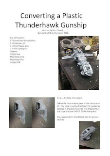 WarLlama 40k: How to build a kit-bashed Thunderhawk Gunship.