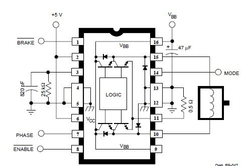 Dc Servo Motor Controller moreover  on bidirectional motor controller circuit l293d
