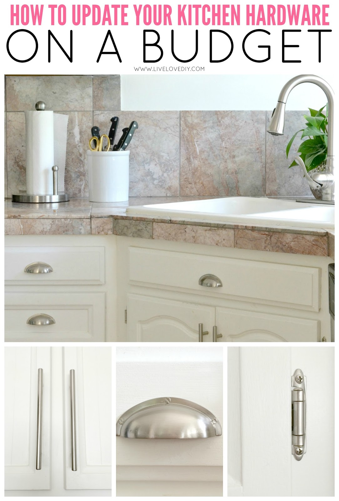 Livelovediy how to paint kitchen cabinets in 10 easy steps for Kitchen cabinets handles ideas
