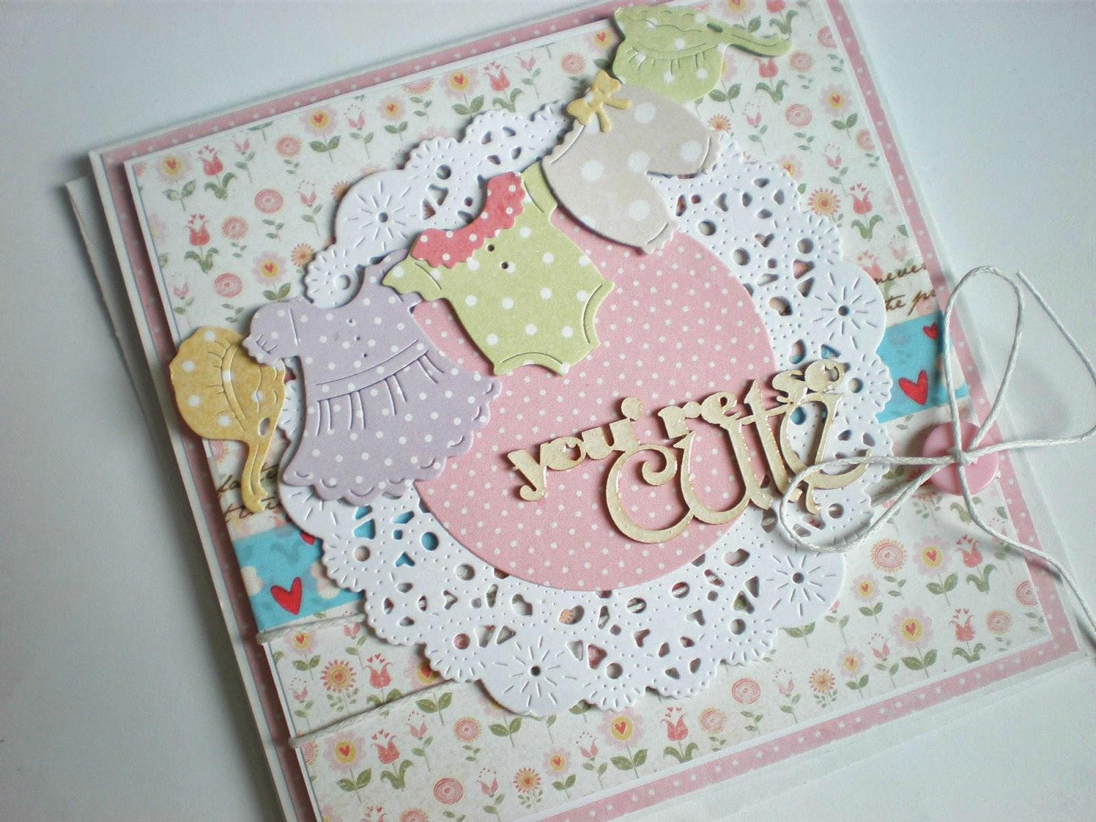 Pohľadnička pre dievčatko / Baby girl card