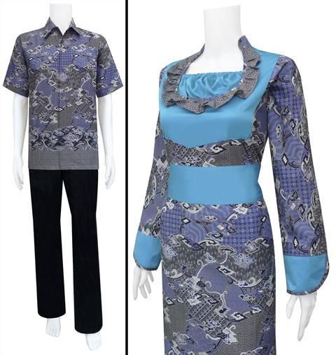 Baju Batik Sarimbit Gamis Dress Modis Cantik Menawan