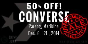Converse Sale at Parang, Marikina - Geeky Juan