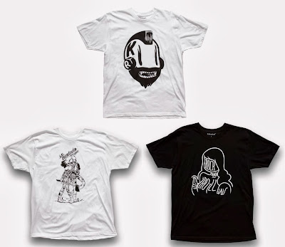 "McBess Apparel Capsule by Kidrobot - ""Kidrobot Mascot"", ""Les Viandardes"" & ""Rock and Roll"" T-Shirts"