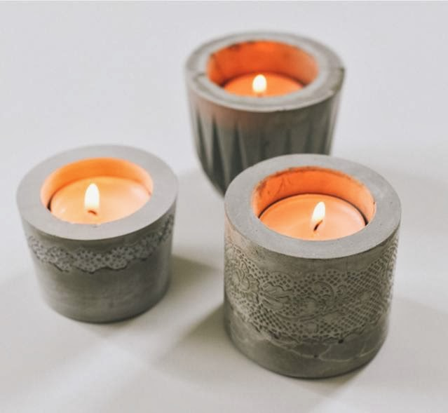 Lace Cement Votive