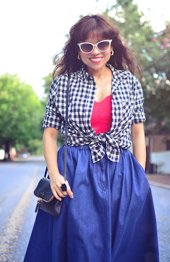 Mango gingham shirt