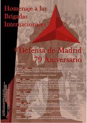 Homenaje a las Brigadas Internacionales en Madrid