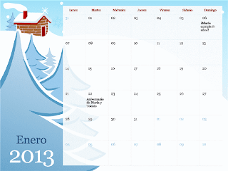 Descargar Calendario mensual de 2013 estacional
