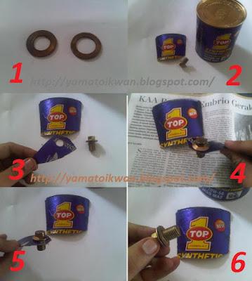 proses kerja membuat ring baut tap oli