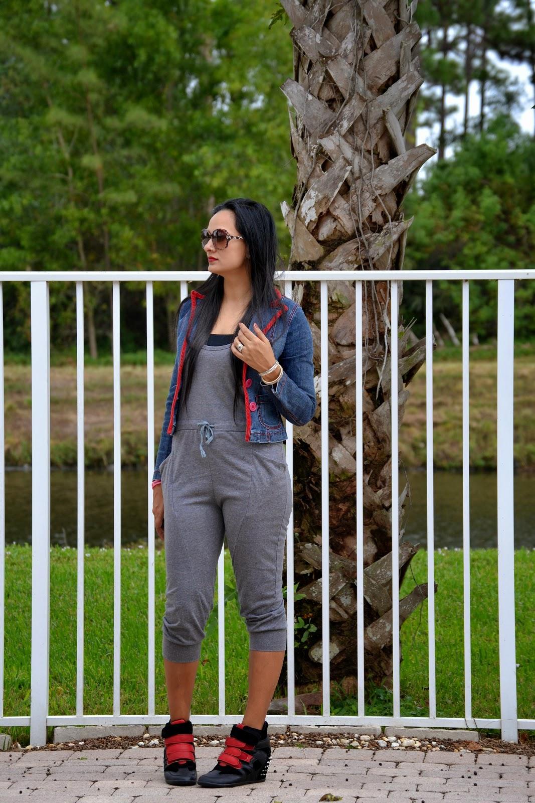 Playsuit drawstring jumpsuit spikes sneakers www.sandysandhu.co