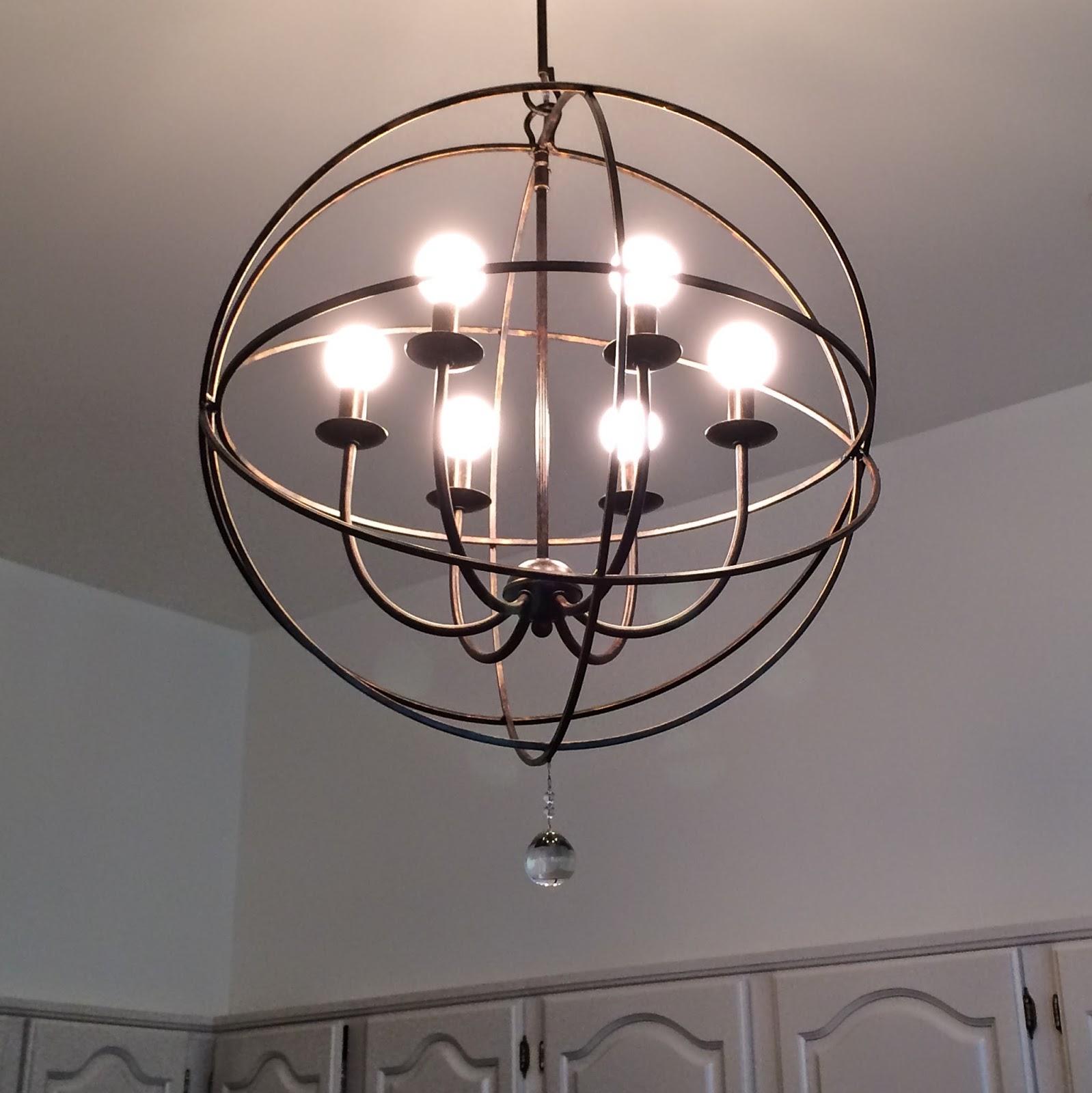 Librarian tells all the orb chandelier from ballard designs - Light fixtures chandeliers ...