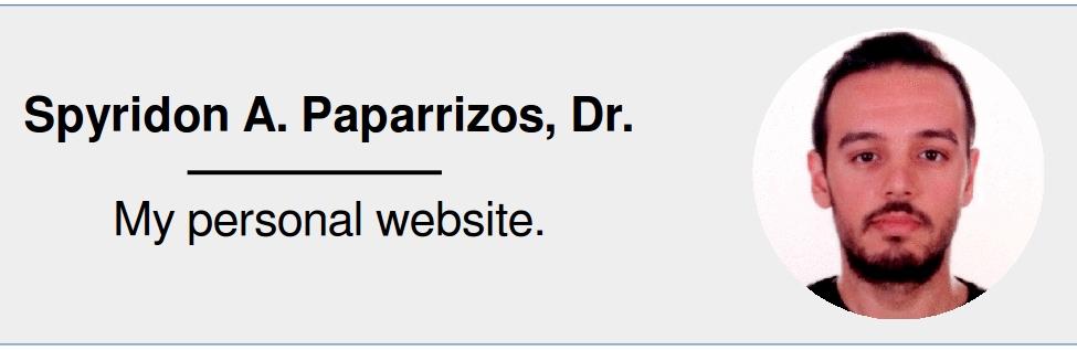 Spyros Paparrizos:  My personal website
