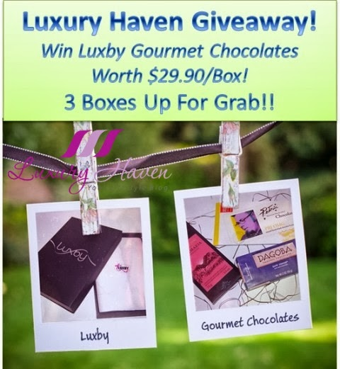 luxby gourmet chocolate giveaways