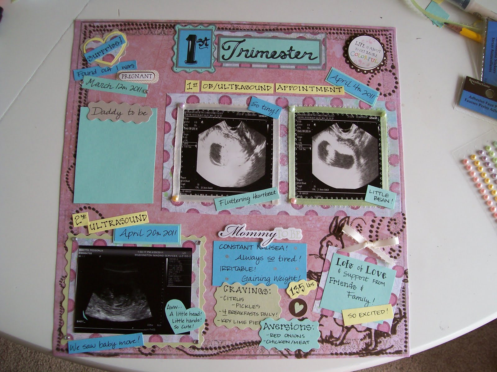 How to scrapbook pregnancy