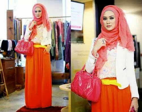 hijab chic orange