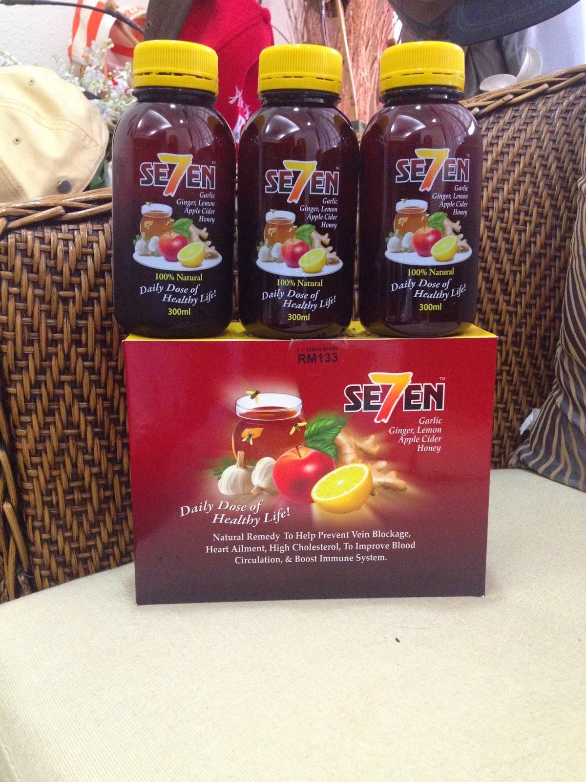 Se7en - halia, bawang putih, lemon, cuka epal dan madu
