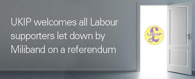 UKIP welcomes all Labour supporters let down by Miliband on a referendum