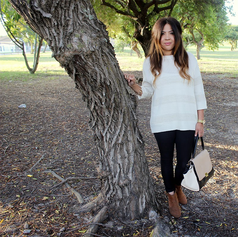 mango slouchy knit, ootd, fashion blogger cape town, gold statement jewellery, winter fashion, ombre curls, laiqah ally