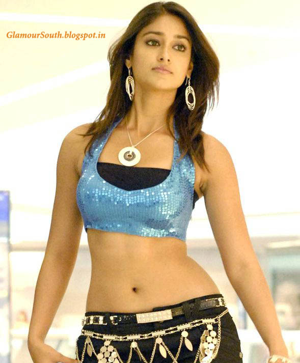 Ileana D Cruz Hot In Tight Jeans And Blue Sleeveless Blouse
