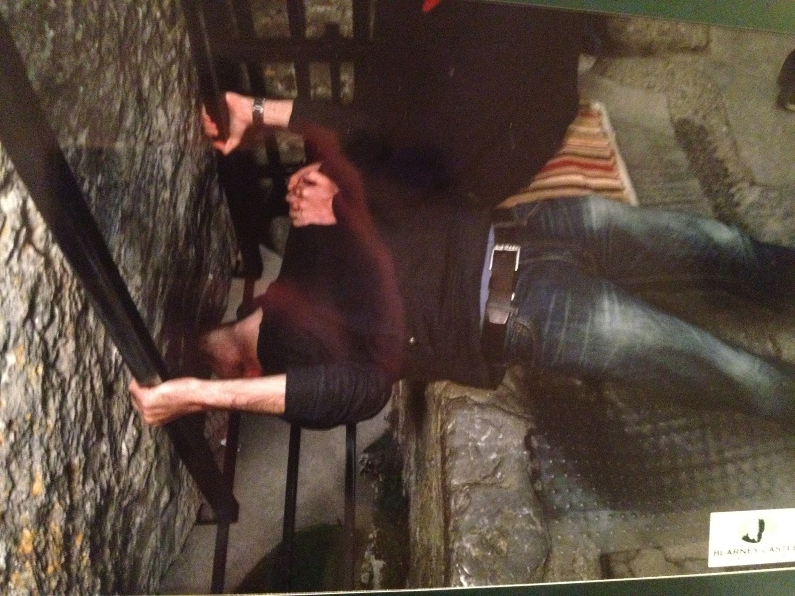 Simon kissing the Blarney Stone