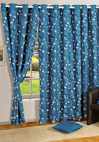Buy  Swayam Printed Eyelit Curtain   at jabong