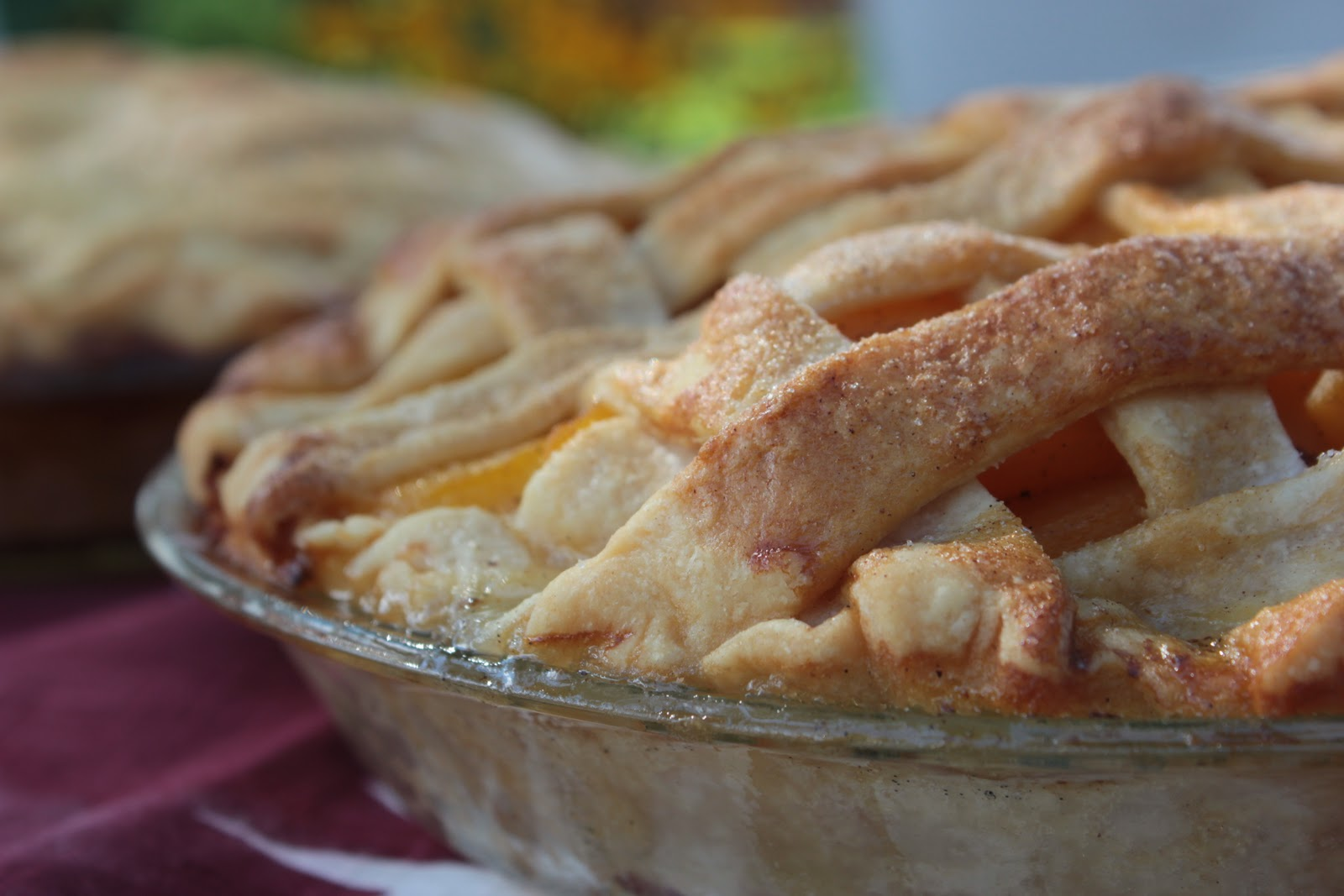 Thyme In Our Kitchen: Peach Pie Two Ways~ Vanilla Cardamom and Caramel