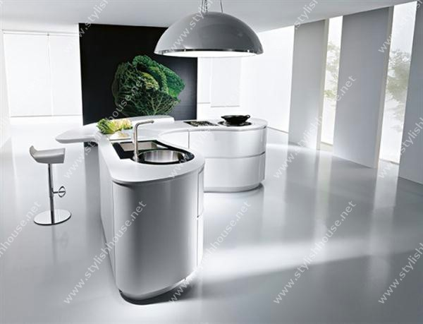 White Futuristic Modern And Luxury Italian Kitchen Design
