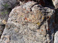 Metamorphic rock on Black Rock Canyon Trail, Joshua Tree National Park