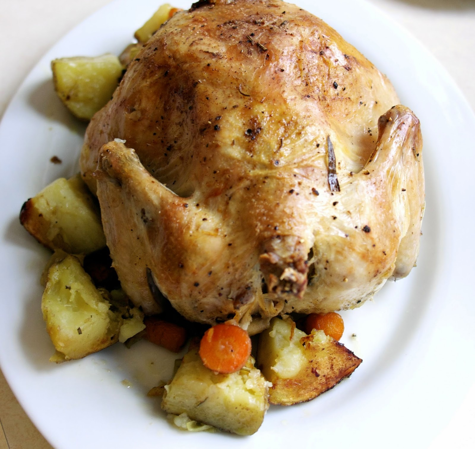 roasted chicken w/ vegetables: simplelivingeating.com