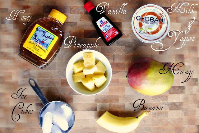 Pineapple Mango Smoothie l SimplyScratch.com