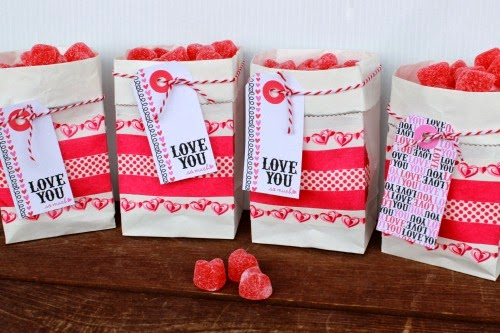 Valentine Treat Bag Printable by Summer Scraps